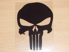 PUNISHER Skull Film Classic Car Motorcycle Matt Black Finish Decal Sticker