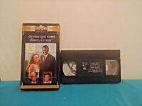 Devine qui vient diner   VHS tape & sleeve FRENCH Sidney Poitier
