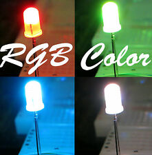 100pcs 5mm Round Slow 7 Color Changing 2.5-3.4V 20mA RGB LED Diffused,US Seller