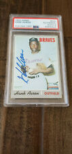 1970 TOPPS SIGNED AUTO CARD HANK AARON ATLANTA BRAVES BREWERS 500 PSA DNA 9 1/1