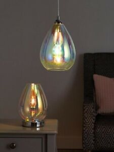 Very - Esme Iridescent Glass Light Pendant