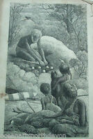 ANTIQUE PRINT 1889 ENGRAVING NEST OF TALLEGALLA NATURAL HISTORY REV J G WOOD