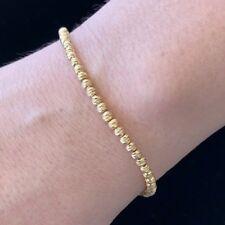 Stunning Classy Lovely textured Diamond cuts 18KY Gold Ladies Italian bracelet