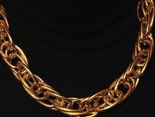 "Gold Multi-Link Chain Statement Chunky Choker Necklace 17"" 18"" 19"" Lightweight"