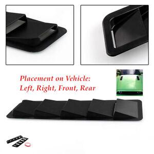 "2PCS 16.7""x4.5"" Car Matte Black Hood Vent Louver Cooling Panel Stable outside"