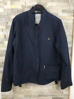 Loyalty And Faith Mens Size L Blue Denim Religion Birds Spade Print Jacket Coat