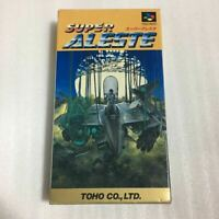 Super Aleste Super Famicom SFC SNES Nintendo Japan game w/manual box