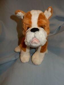 "Build A Bear Boxer Bulldog Brown White 12"""