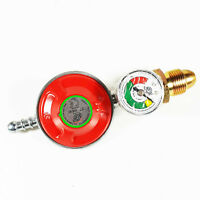 Propane Gas Regulator Gauge Caravan Motorhome 37mbar - Fits Color Gas Bottles