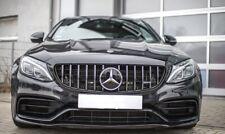 Mercedes C Class Grill Chrome C63 AMG Style 2014+ W205 Fits C220 C250 C350