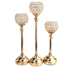Crystal Globe Candle Holder Metal Centerpiece