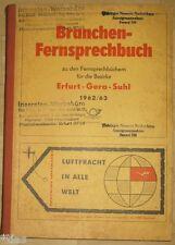 Branchen-Fernsprechbuch für die Bezirke Erfurt Gera Suhl 1962/63 Thüringen DDR