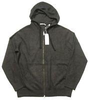 Vince Men's Dark Heather Gray 100% Cashmere Full Zip Hoodie $475