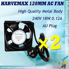 2x Hydroponics 120mm AC Fan 240V Ventilation Air Cool Fan House Machine Cooling