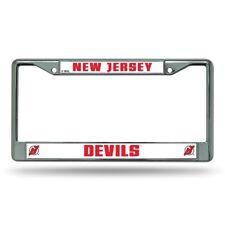 New Jersey Devils NHL Chrome Metal License Plate Frame