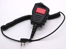 DUAL PTT Shoulder Speaker Mic FOR KENWOOD TYT F8 BAOFENG UV5R UV100 Radio 2 PIN