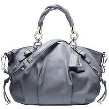 NEW COACH MADISON BLUISH GRAY PLEATED SOPHIA LEATHER TOTE BAG PURSE SATCHEL RARE