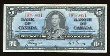 1937 Bank of Canada $5 - BC-23c. S/N: B/S6780431