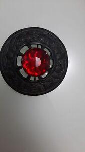 SCOTTISH KILT FLY PLAID BROOCH RED STONE/FLY PLAID BROOCH THISTLE PATTERN