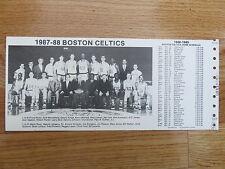 1987-88 BOSTON CELTICS Team Photo Schedule LARRY BIRD KEVIN McHALE ROBERT PARISH