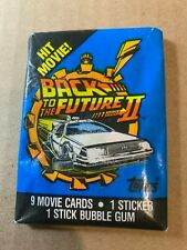 Back to the Future 2 trading cards bubble gum wax pack.