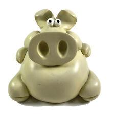 More details for vintg 70s piggy bank fun pig sculpture stopper artist paolo chiari france signed