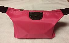 Travel Make Up Zippered Pouch Bag Hot Pink New