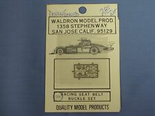 NEW Waldron Model Products, 1/20 Scale Racing Seat Belt Buckle Set, DISCONTINUED