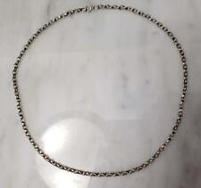 ~ 19.2 g ~ 7-H1324 Sterling Silver Cable Chain Necklace 20""