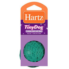 Hartz Tiny Dog Rubber Ball with Bell, Dog Toy (Assorted Colors)