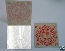 10 x Blattsilber 38 x 38mm, echtes Silber, zum Versilbern
