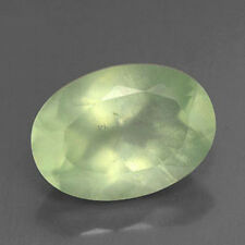 AAA Quality 10 Piece Natural Prehnite 13x18 mm Oval Faceted Loose Cut Gemstones