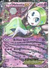 POKEMON LEGENDARY TREASURES RADIANT COLLECTION - MELOETTA EX RC11/RC25 HALF ART