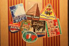1,000 DIFFERENT HOTEL LUGGAGE LABELS