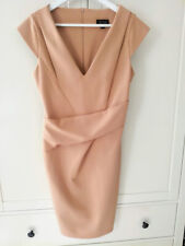 Topshop fitted pencil wiggle office career  Beige day holiday  Dress Size 14