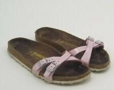Women's Pink Almere Birkenstock Slip On Sandal Size 38 7