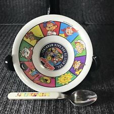 Kellogg's Cereal Bowl with Spoon 1996 Plastic