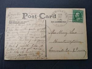 Alabama: Beaverton 1910 Greeting Postcard, Unlisted Doane 3/2, Lamar Co