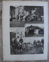 Blatt 1914-22 Galizien Russland Proviant Kolonne Flieger Abteilung Transpor 1.WK