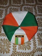 Vintage Newsboy/Cabby Cap/Hat Ireland Patch  Orange Green White Snapback
