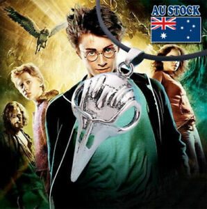 Harry Potter Silver  Bellatrix Sculpey Skull Project Pendant Necklace
