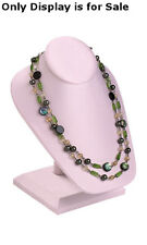 """New Pink Finished Necklace Display On Stand 6 1/2""""L x 7""""W x 8 1/4""""H"""