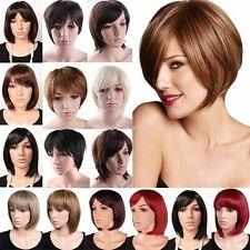 Professional Real Thick Short Hair Wigs BOB Pixie Boycut Full Head Wig Party GF2