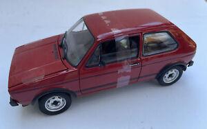 NOREV 188472 VW GOLF Mk.1 GTI diecast model road car red body 1976 1:18 DAMAGED
