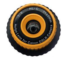 USD - Holga HL-C 60mm f/8 Toy Lens for Canon Digital DSLR Camera Yellow