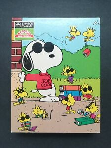 "Rare Sealed GOLDEN Peanuts Snoopy & Friends ""Joe Cool"" Jigsaw Puzzle 1975 NEW"