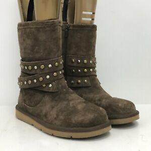 Ugg Boots Size UK5.5 EUR38.5 22cm Length Brown Leather Blend Stylish 301011