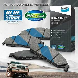 4pcs Bendix Front HD Brake Pads for Ford Courier PG PH Ranger PK PJ