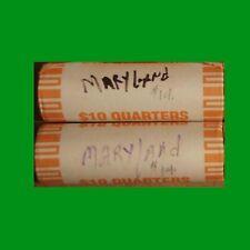 2  rolls -  2000  Maryland - D State Unc Quarter Rolls - MD