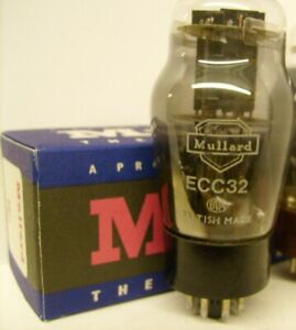 ECC32 CV181 MULLARD  MATCHED PAIR NOS ORIGINAL BOX TUBE  VALVE
